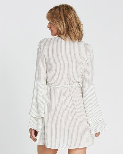 2 Night Fever Long Sleeve Mini Dress White JD33SBNI Billabong