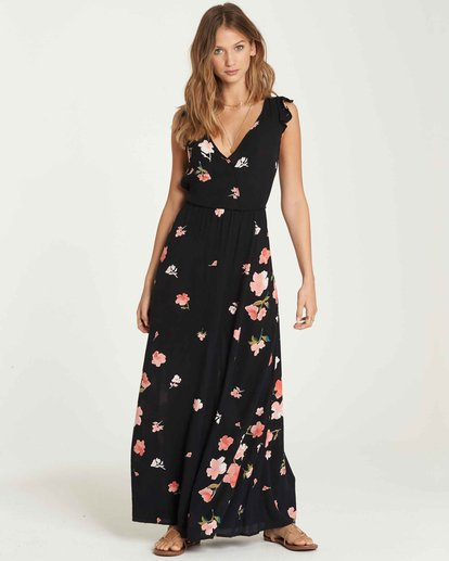 1 Wind Flutter Maxi Dress Black JD34QBWI Billabong