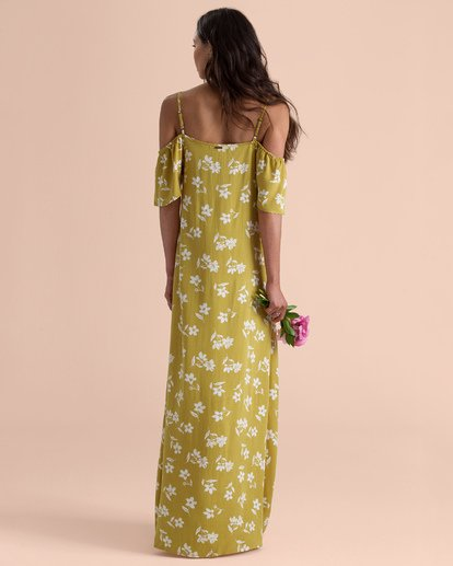 2 Sincerely Jules Shoulder Sway Maxi Dress Yellow JD34TBSH Billabong