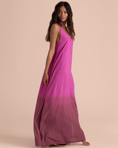 1 Sincerely Jules High Point Slip Maxi Dress Pink JD35TBHI Billabong