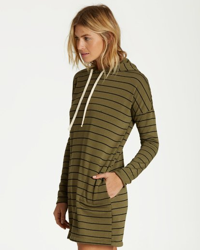 2 So Easy Mini Dress Green JD35VBSO Billabong