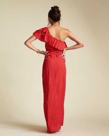 5 Sincerely Jules Your Side Dress Red JD361BYO Billabong