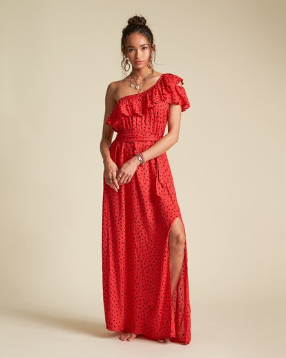 2 Sincerely Jules Your Side Dress Red JD361BYO Billabong