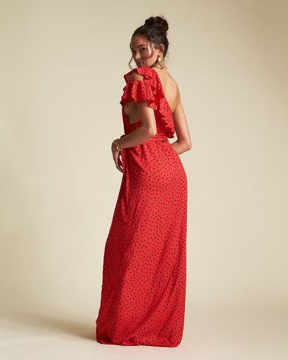 4 Sincerely Jules Your Side Dress Red JD361BYO Billabong