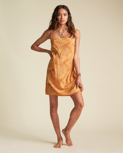 0 Sincerely Jules Kick Rocks Dress Orange JD381BKI Billabong