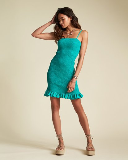 0 Sincerely Jules Playing For Keeps Dress Green JD391BPL Billabong