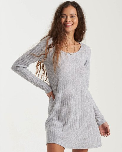 0 True Hearts Mini Dress Grey JD403BTR Billabong