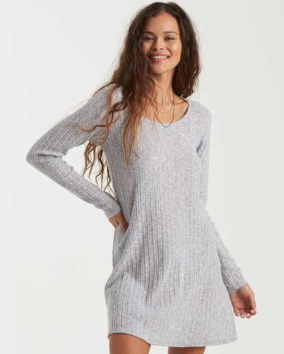 3 True Hearts Mini Dress Grey JD403BTR Billabong