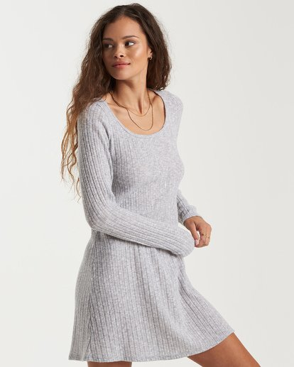 1 True Hearts Mini Dress Grey JD403BTR Billabong