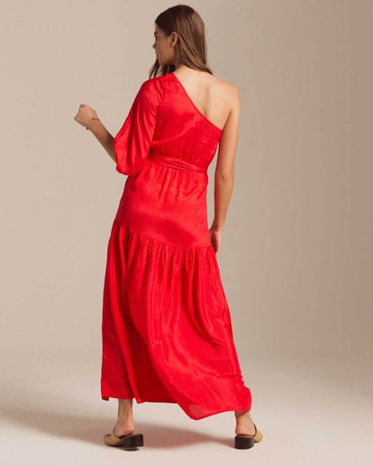 3 One Sided Maxi Dress Red JD40PBON Billabong