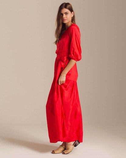 2 One Sided Maxi Dress Red JD40PBON Billabong