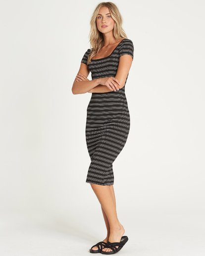 1 Day Night Midi Dress Black JD40UBDA Billabong