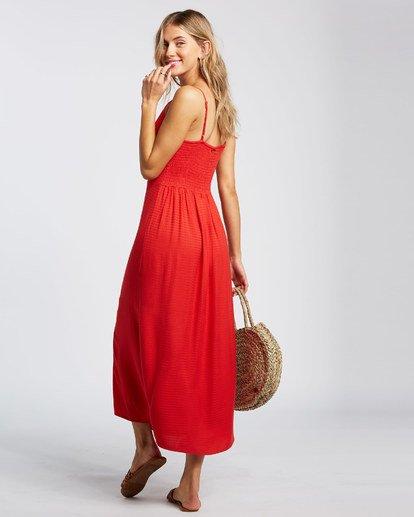 4 Sugared Life Midi Dress Red JD411BSU Billabong