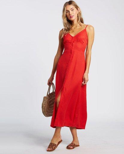 2 Sugared Life Midi Dress Red JD411BSU Billabong