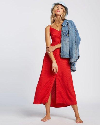 5 Sugared Life Midi Dress Red JD411BSU Billabong