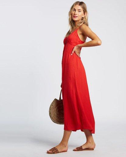 3 Sugared Life Midi Dress Red JD411BSU Billabong
