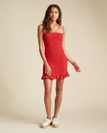 2 Sincerely Jules Playing For Keeps Dress Red JD421BPL Billabong