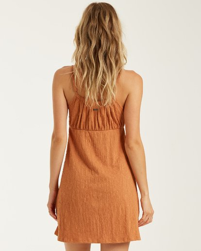 2 Flirt Much Dress Brown JD462BFL Billabong