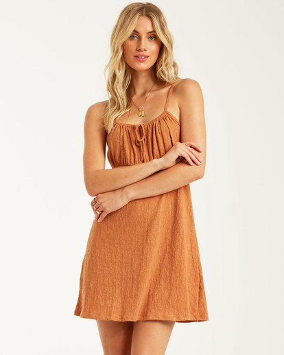 0 Flirt Much Dress Brown JD462BFL Billabong