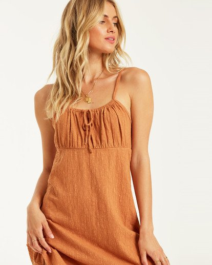 1 Flirt Much Dress Brown JD462BFL Billabong