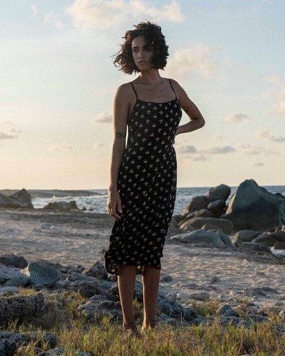 0 Sandy Beach Midi Dress Black JD473BSA Billabong