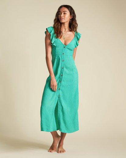 1 Sincerely Jules Love Tripper Dress Green JD551BLO Billabong