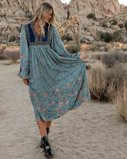 0 The Elle Dress Blue JD59SBEL Billabong