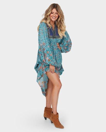 2 The Elle Dress Blue JD59SBEL Billabong