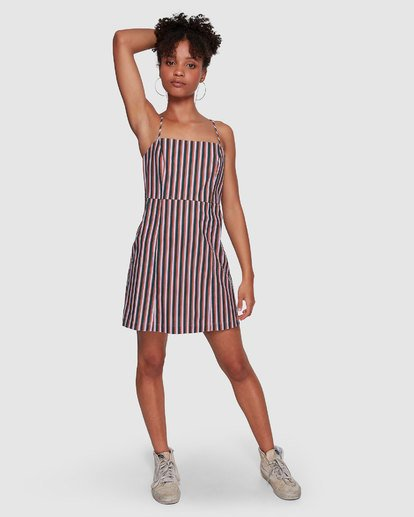 5 Lavender Love Stripe Dress Purple JD60VBLA Billabong