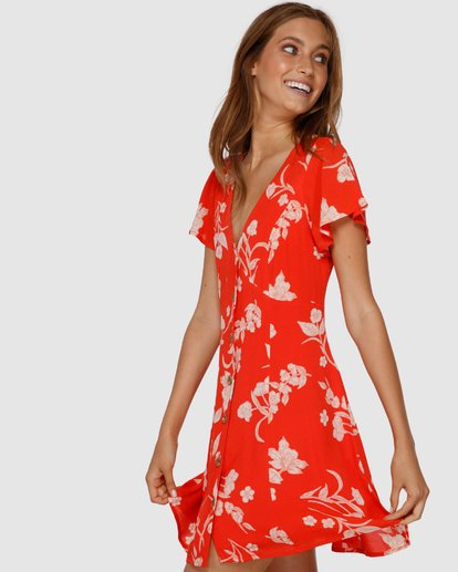 1 Mad Love Dress Orange JD61VBMA Billabong