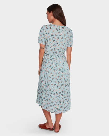 2 Bluebell Wrap Dress Blue JD61WBBL Billabong