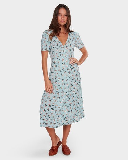 0 Bluebell Wrap Dress Blue JD61WBBL Billabong