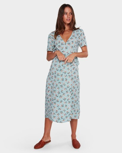 3 Bluebell Wrap Dress Blue JD61WBBL Billabong
