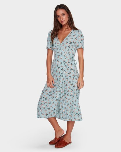 1 Bluebell Wrap Dress Blue JD61WBBL Billabong