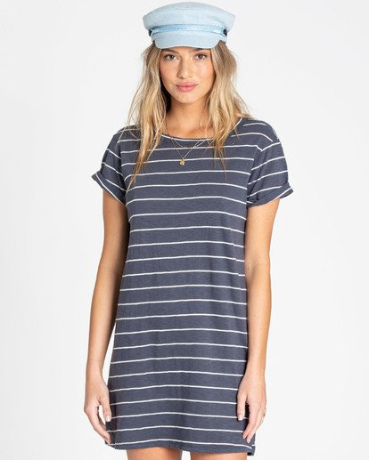 0 Coast To Coast T-Shirt Dress Blue JD65TBCO Billabong