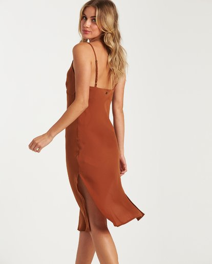 3 Sundance Slip Dress Brown JD70WBSU Billabong
