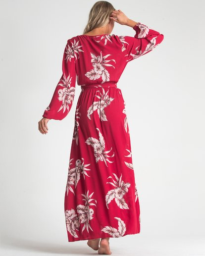 2 Kauai Maxi Dress Red JD72UBKA Billabong