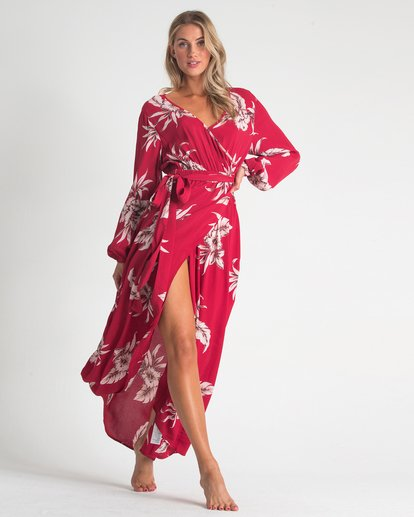 0 Kauai Maxi Dress Red JD72UBKA Billabong