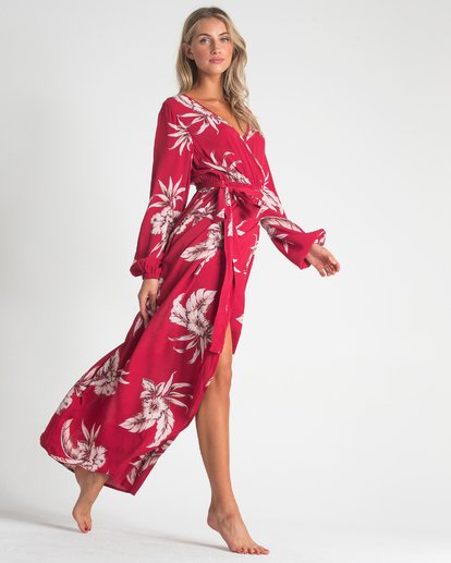 1 Kauai Maxi Dress Red JD72UBKA Billabong