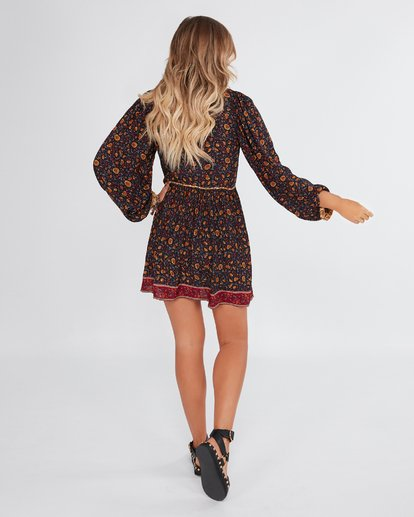 3 Elle Ferguson The Byron Dress Black JD72WBTH Billabong