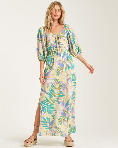 1 Todays Wish Dress Yellow JD762BTO Billabong