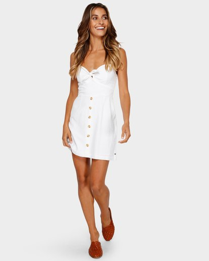 3 Franca Mini Dress White JD80TBFR Billabong