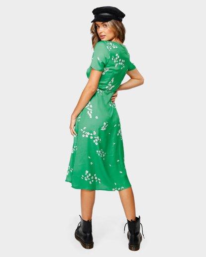 2 Jade Wrap Midi Dress Green JD80UBJA Billabong