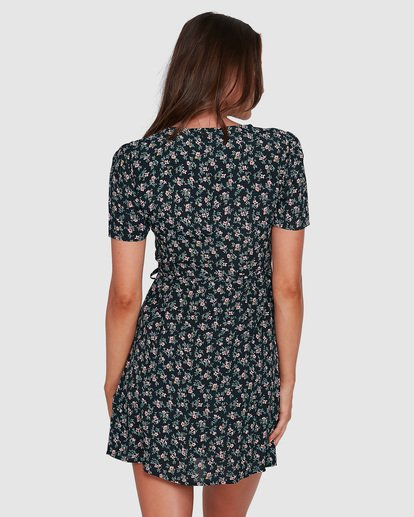 3 Bloom Wrap Dress Black JD833BBL Billabong