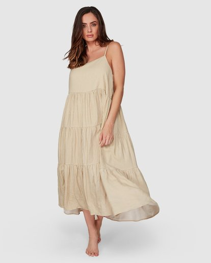 5 Lost Love Maxi Dress Beige JD861BLO Billabong