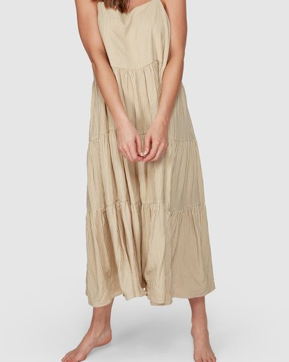 4 Lost Love Maxi Dress Beige JD861BLO Billabong