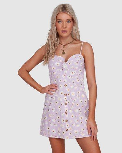 2 Del Sol Franca Dress Purple JD901BDE Billabong