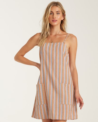 1 Straight Round Dress Grey JD902BST Billabong