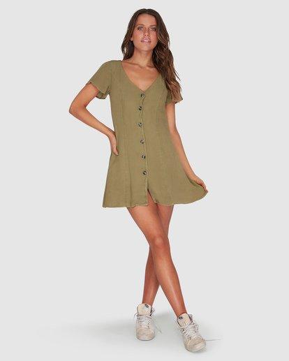 3 Sunlight Dreamin Mini Dress Green JD90TBSU Billabong