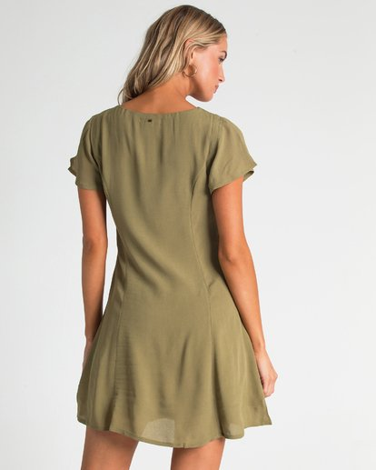 2 Sunlight Dreamin Mini Dress Green JD90TBSU Billabong